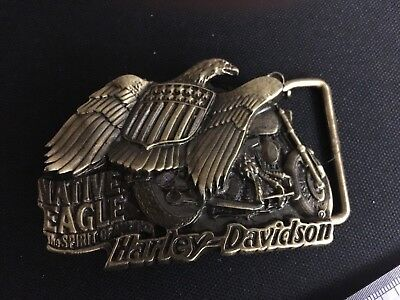 Harley Davidson Belt Buckle Solid Brass Eagle