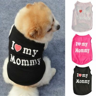 Small Pet Dog Apparel Vest Cat Coat T-shirt Summer Fall Vest Clothes HOT NEW UK