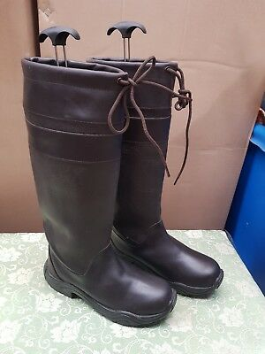 New Harry hall Size 7 Long Brown Leather Country Riding Boots