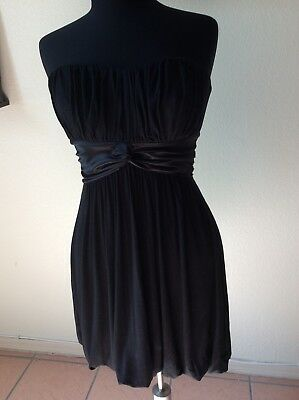 efd59f0ab90 2b Bebe Bubble Skirt Strapless Black Dress Womans Sz S Free Shipping