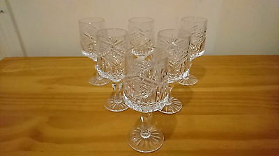 Tyrone Crystal Slieve Donard Brandy Glasses Irish Cut Glass 6 Available