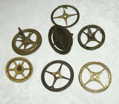 Collection of Antique Large Clock Gear Wheels