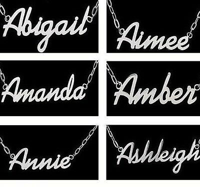 Steel Personalised Name Necklace Bracelet Up to 11 Letters Birthday / Xmas Gift