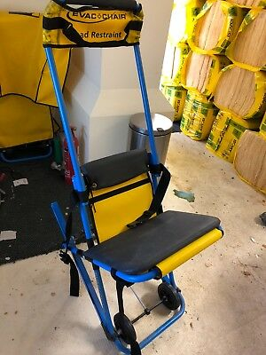 evac + chair with wall bracket and dust cover 2 no for sale