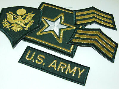 Funsport 9 US ARMY patch Set DCU Desert Uniform Konvolut 4th ID AIRBORNE 2nd ACR Lt LAURY Airsoft