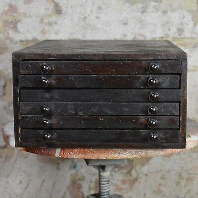 Antique printers cabinet mahogany collectors cabinet drawers storage