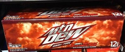 1x 12oz 12 Pack Mountain Dew Game Fuel Cans Cherry Citrus Flash Sale