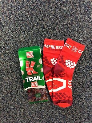 Compressport Pro Racing Trail Socks Hi, Red, size T2,