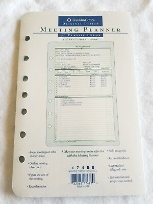 """Franklin Covey Classic 7 Hole Meeting Planner #17488  5.5 x 8.5"""" 50 Sheets"""