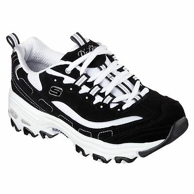 Womens Skechers D Lites Biggest Fan Trainers Runners Lace Up New