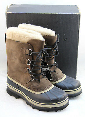 NIB SOREL Caribou Bruno Size 10 M Men's Snow Winter Boots RETAIL $150