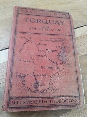 1940s WARD LOCK RED GUIDE TORQUAY (14th EDITION) PULL-OUT MAPS