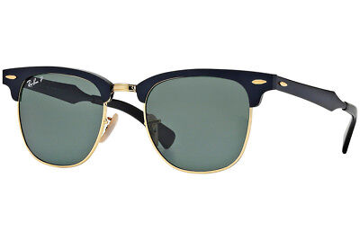 eb569d4081 Ray-Ban RB3507 136 N5 Clubmaster Black Frame Polarized Green 51mm Lens  Sunglasse