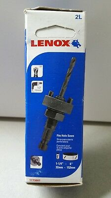 "Lenox 2L 1/2"" Hole Saw Arbor Mandrel Drill Bit (1-1/4"" to 6"" Hole Saws) 1779801"
