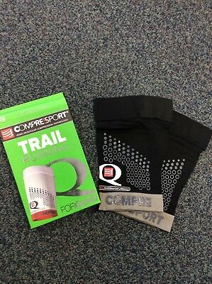 Compressport Trail Running Quad Guard, Black/Grey, Size 1
