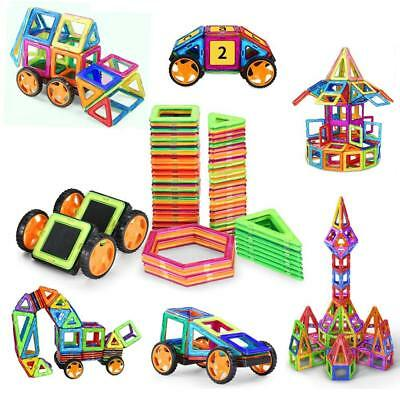 98 PCS Magnetic Blocks with Wheels,Magnetic Building Set,Magnetic Tiles for Kids
