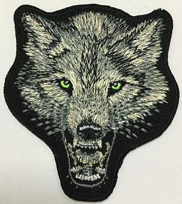 """""""lone Wolf"""" Motorcycles Bikers Embroidered Jacket Patch Unused Indian Hog"""