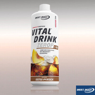 Best Body Nutrition Low Carb Vital Drink 1000 ml Flasche Eistee Pfirsich