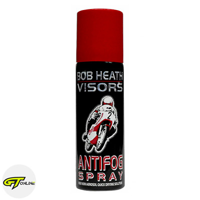Bob Heath Visors Anti Fog Motorcycle Motorbike Helmet Visor Mist Spray 50ML