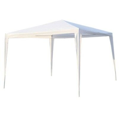 ALEKO Waterproof Gazebo Tent Canopy For Outdoor Events Picnic Party White Color