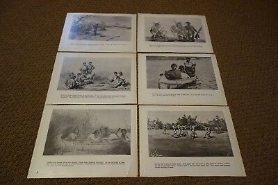 Vintage Wisconsin Historical Society Menominee Indian Prints Lot of 6