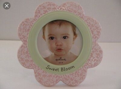 Flower Photo Frame-Baby Gift-Shower Gift-Pink-4x4 Photo-Free Shipping