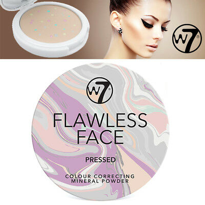 W7 Cosmetics Flawless Face Pressed Colour Correcting Mineral Powder Salon Look