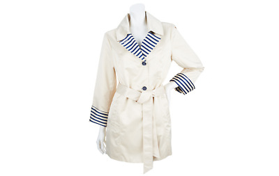 Dennis Basso Notch Collar Jacket with Striped Details pick size color