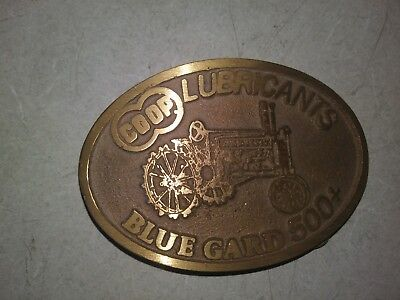 COOP Lubricants Blue Gard 500+ John Deere A Tractor Farmland IN Belt Buckle #1