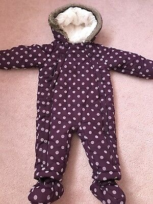Marks And Spencer Girls Snowsuit 9-12 Months New