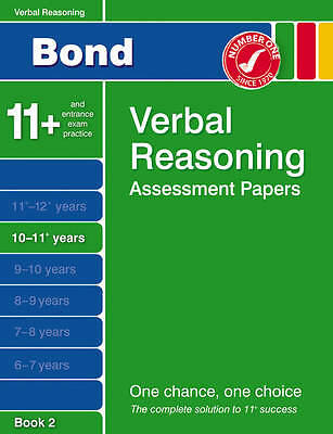 Bond Verbal Reasoning Assessment Papers 10-11+ Years Book 2 by Jane Bayliss...