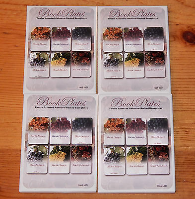 48 Laurel Ink Adhesive Bookplates Wine/Grapes 6 Designs NEW in packages