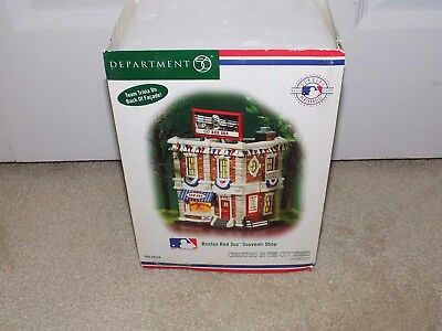 department 56 Christmas in the City boston red sox souvenir shop #56.59229