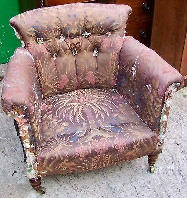 19Th Century Howard Style Tub Chair For Re- Upholstery