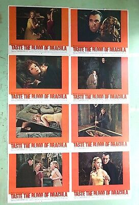 TASTE THE BLOOD OF DRACULA 1970 ORIGINAL U.S. Lobby Cards Complete Set (8)