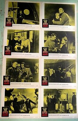 FROM THE EARTH TO THE MOON Original 1958 U.S. 11x14 FULL SET(8) Lobby Cards RARE