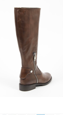 Versace 1969 Italia Women s Knee High Riding Boots BROWN Sz 41 11 US NEW c3f05ab49f3c0