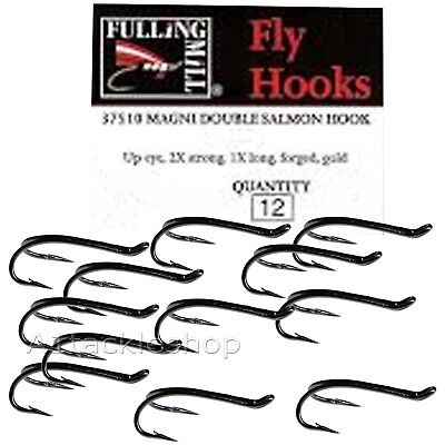 12 Fulling Mill NEW MAGNI Double Fly Hook SILVER FM7505* * New 2019 STOCKS