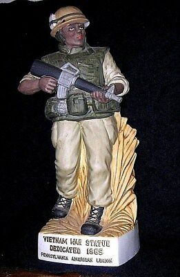 Mt Hope Limited Edition 1985 Vietnam USMC War Statue Wine Decanter(PA Am Legion