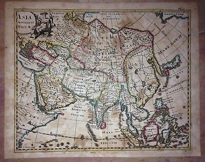 ASIA 1697 by PHILIPP CLUVER NICE ANTIQUE COPPER ENGRAVED MAP XVIIe CENTURY