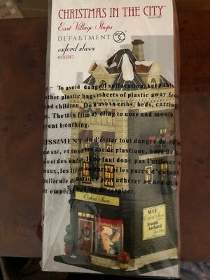 DEPT 56 CHRISTMAS IN THE CITY OXFORD SHOES NIB *Still Sealed* #4030343