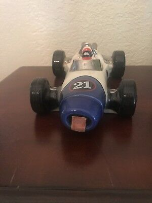 1970 Ezra Brooks Speedway Race Car #21 Whiskey Decanter Heritage China
