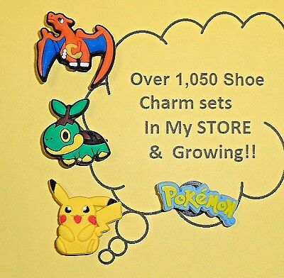 Pokemon Smaller Shoe Charms put in Your Crocs   auction