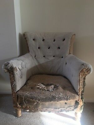 Antique Deconstructed Tub Chair / Arm Chair
