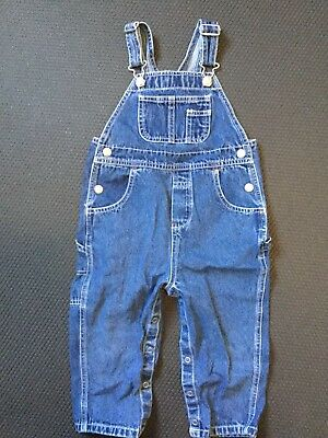 Baby Gap Toddler Baby Boys Classic Denim Overalls Size 24 Mth-2Xl/2Tg Preowned