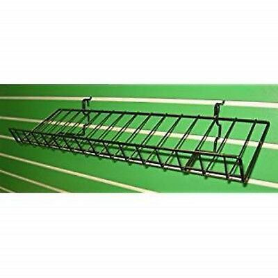 "Display Shelf w/ Lip Gridwall Slatwall Shelves 10""D X46""L Black 5pk"