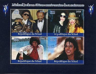 Chad 2018 CTO Michael Jackson Janet 4v M/S Music Celebrities Stamps