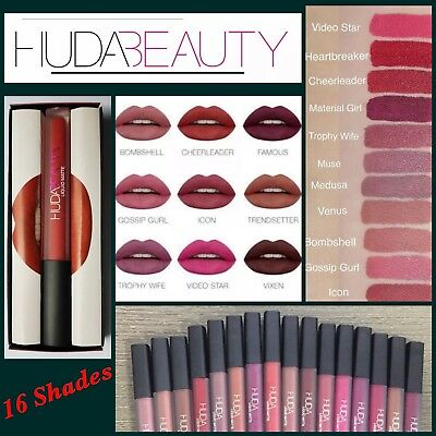 Huda Beauty Liquid ❤️  Matte Lipsticks 16 Different Shades ❤️ UK Seller
