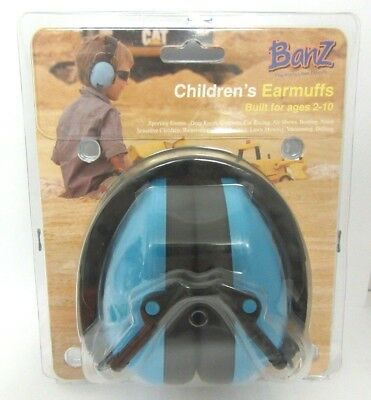 Banz Children's Hearing Protection Earmuffs Ages 2-10 - Blue