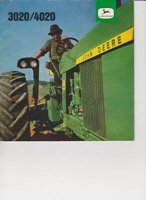 John Deere 3020/4020 tractor sales brochure from Germany - 1960's